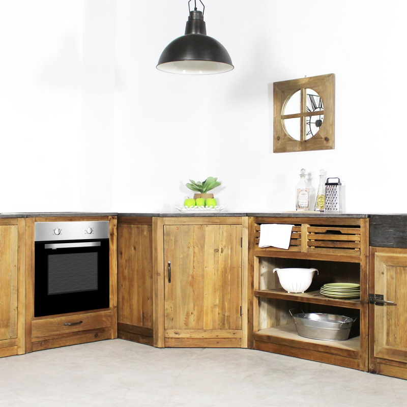 meuble angle cuisine bois