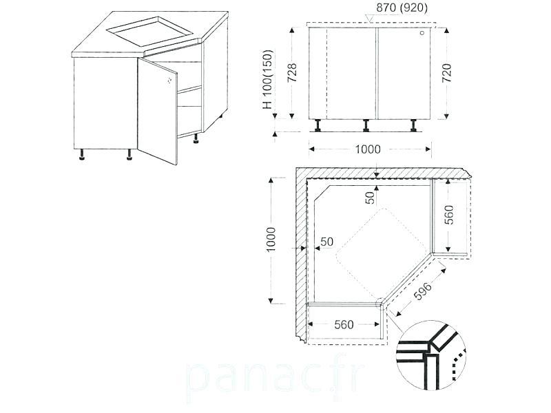 Dimension Meuble Angle Haut Cuisine Idées Déco Maison