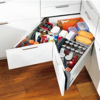 meuble angle cuisine tiroir