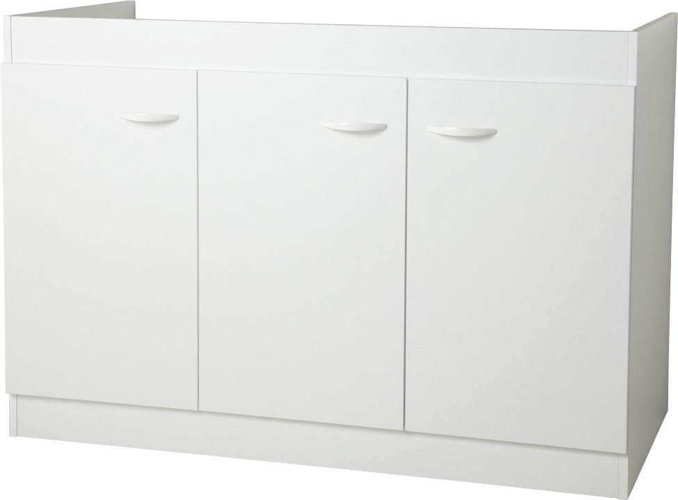 meuble bas cuisine 120 cm 3 portes