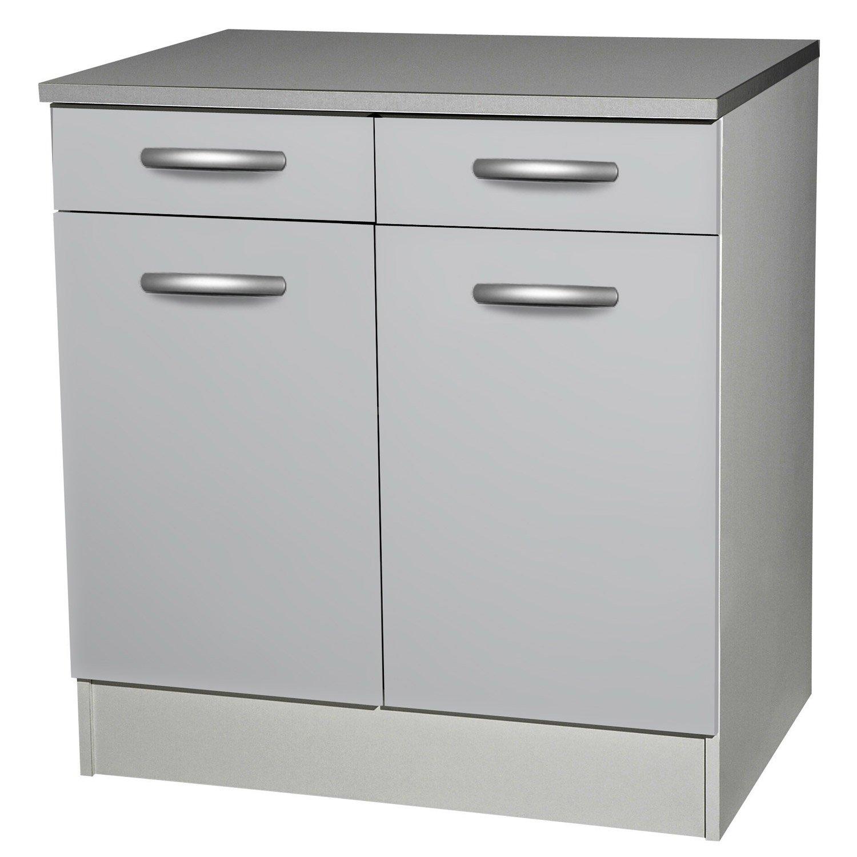 meuble bas cuisine 2 tiroirs