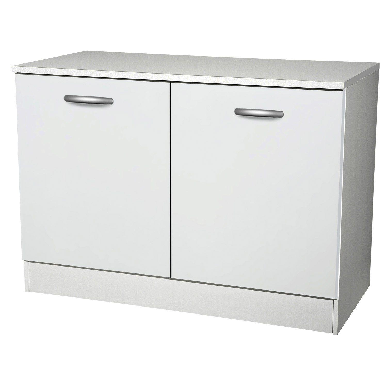 meuble bas cuisine blanc 120 cm