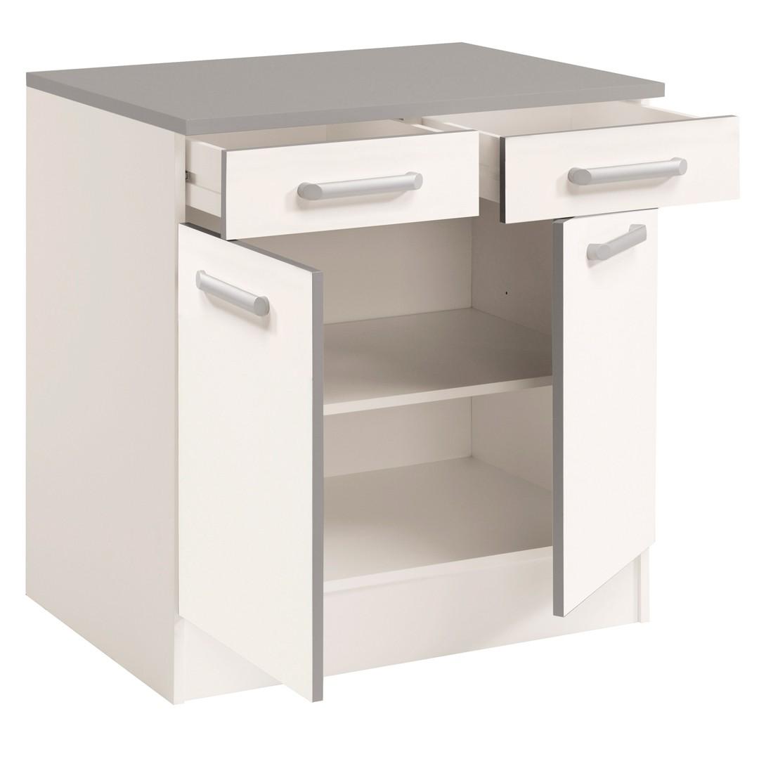 meuble bas cuisine blanc 80 cm