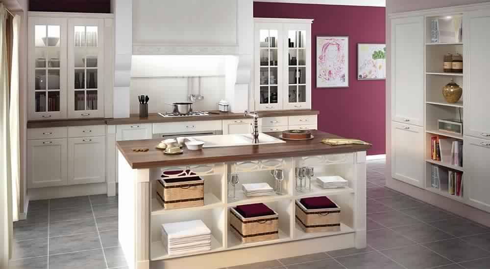 meuble bas cuisine bois blanc