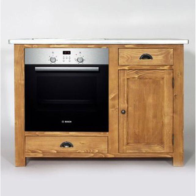 meuble bas cuisine bois massif