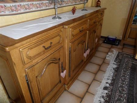 meuble bas cuisine chene rustique