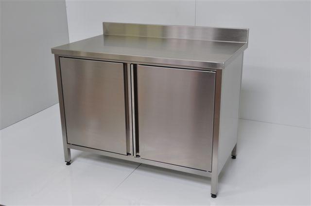 meuble bas cuisine en inox