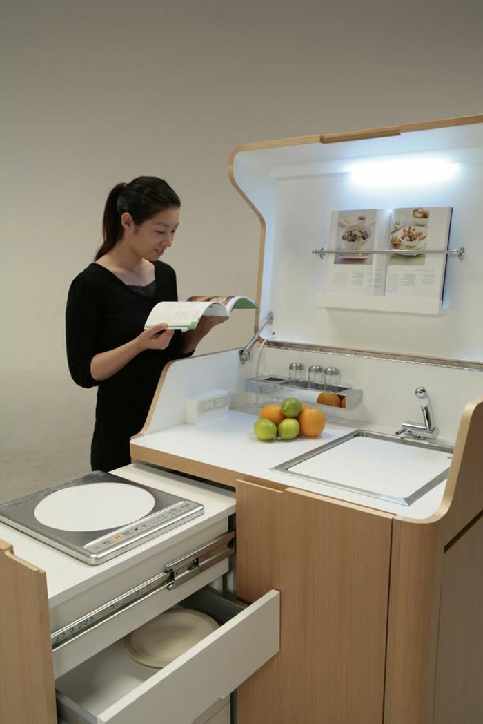 meuble bas cuisine gain de place