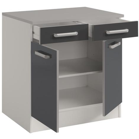 meuble bas cuisine gris 60 cm