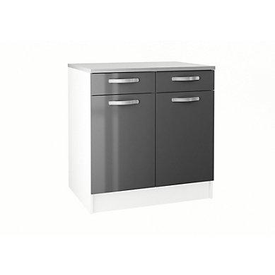 meuble bas cuisine hauteur 85 cm