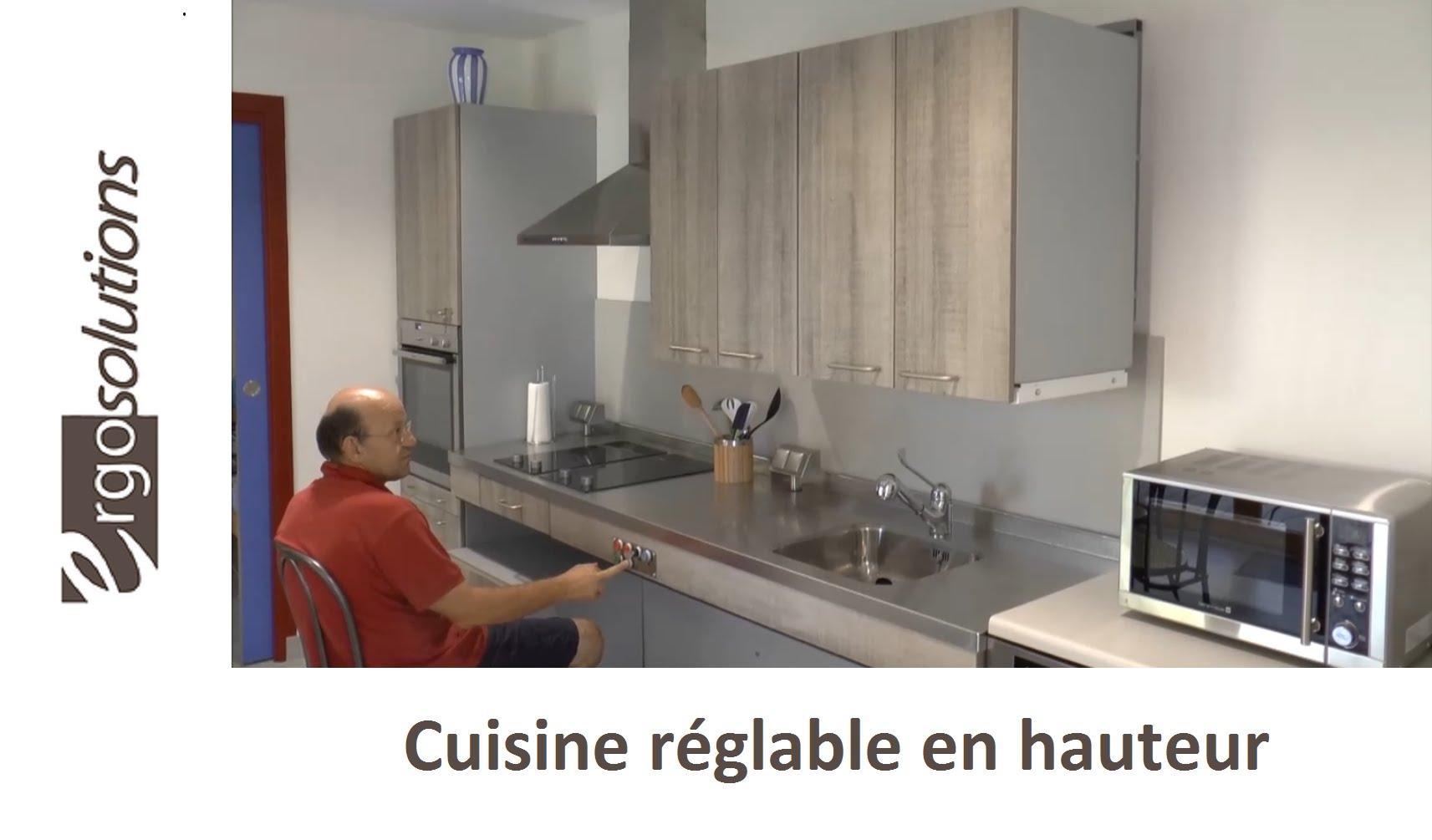 meuble bas cuisine reglable en hauteur