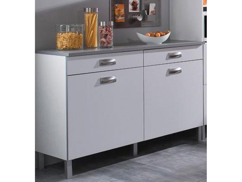 meuble bas gris cuisine conforama
