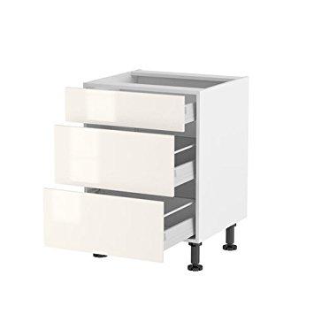 meuble cuisine 3 tiroirs 60