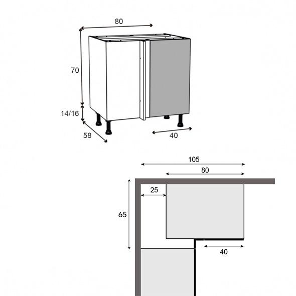 meuble cuisine 70x80