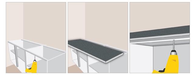 meuble cuisine a poser sur plan de travail