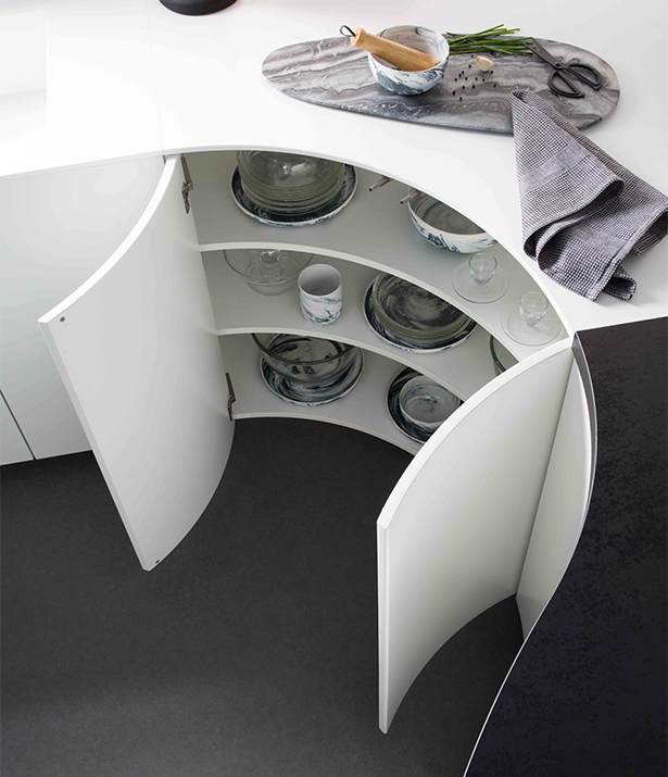 meuble cuisine arrondi