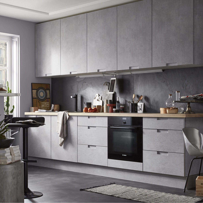 meuble cuisine effet beton