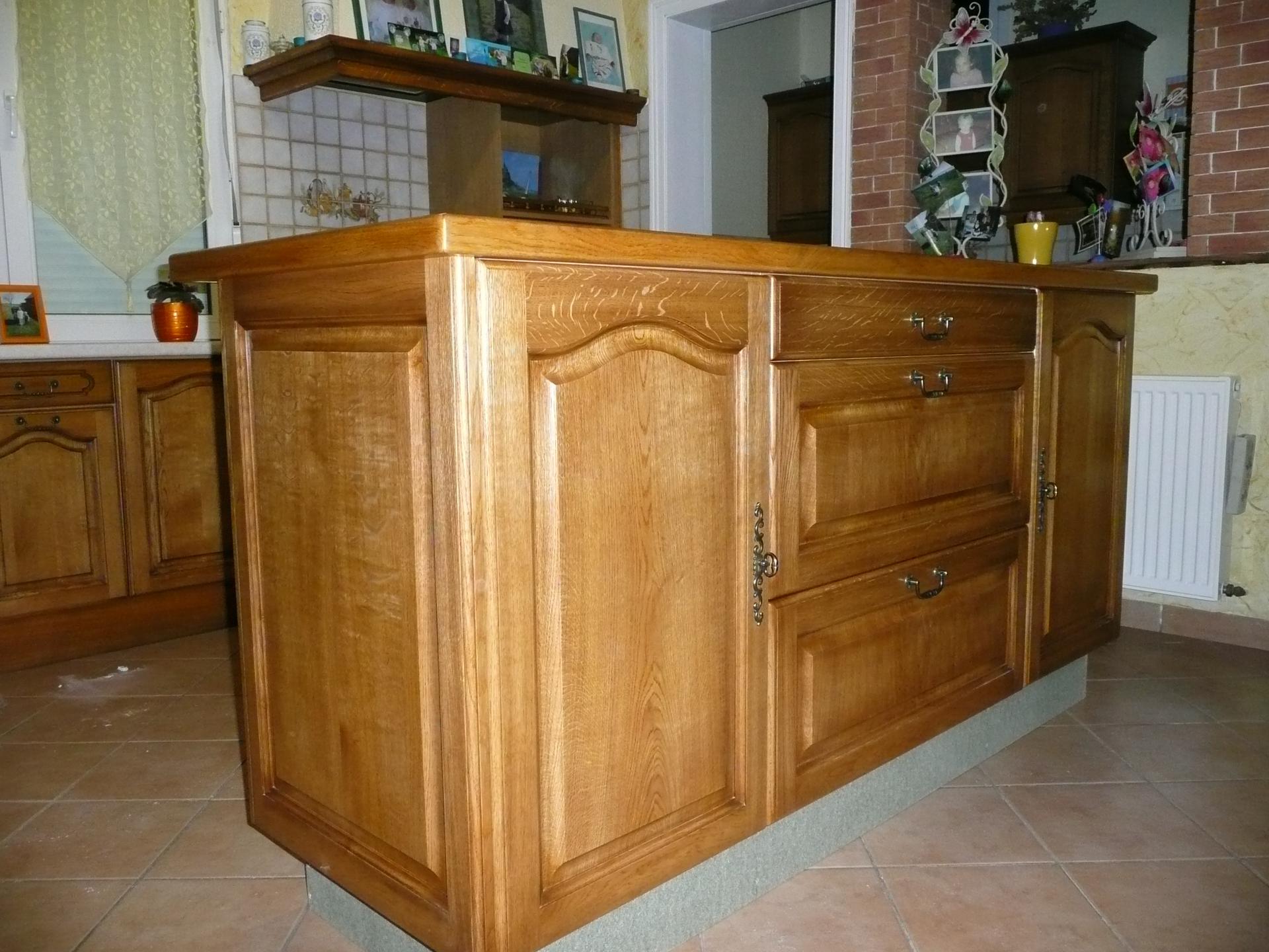 meuble cuisine en chene