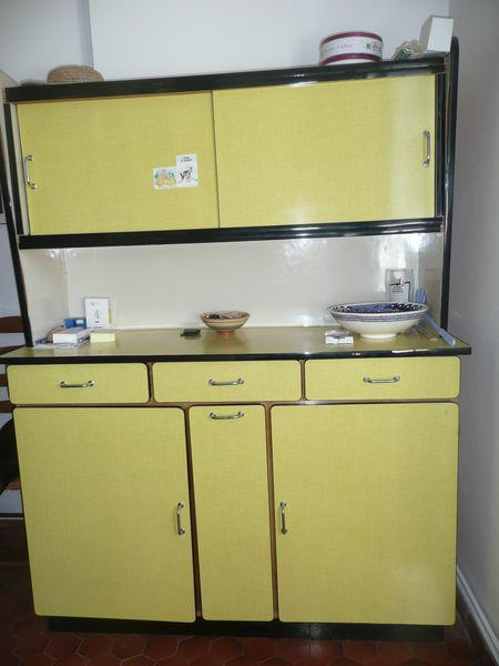meuble haut cuisine marron