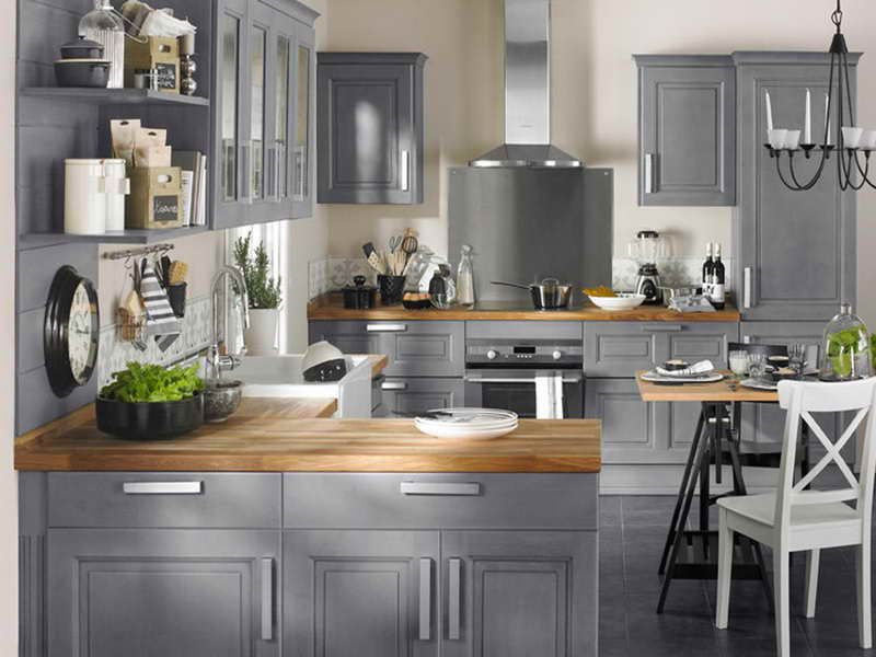 meuble cuisine gris ikea