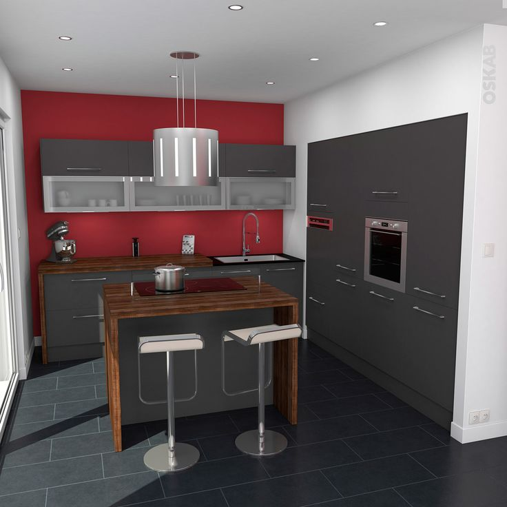 meuble cuisine gris mat