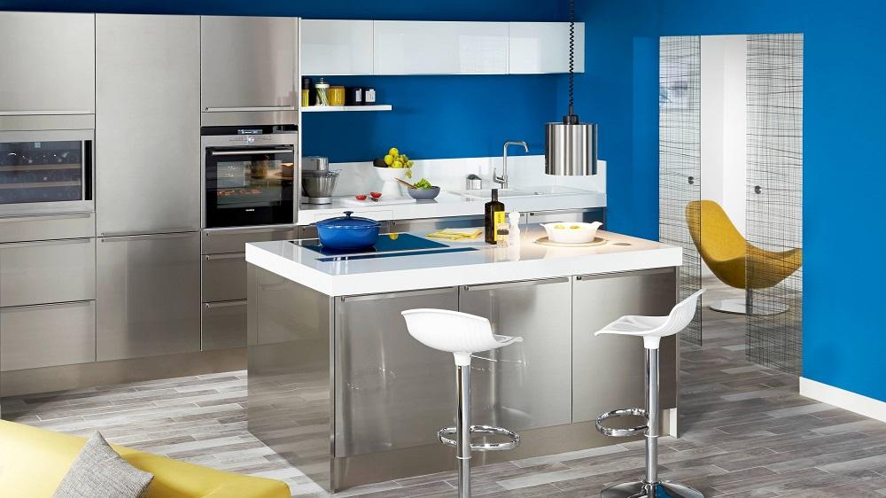 meuble cuisine gris quelle couleur mur