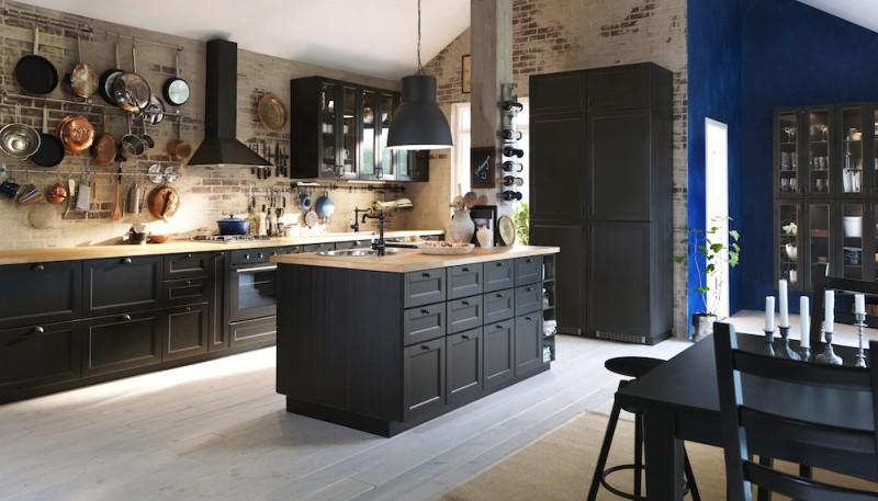 meuble cuisine ikea noir
