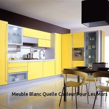 meuble cuisine jaune et blanc