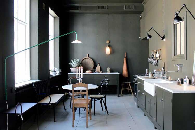 meuble cuisine kaki