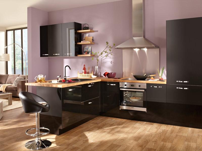 meuble cuisine keywest noir
