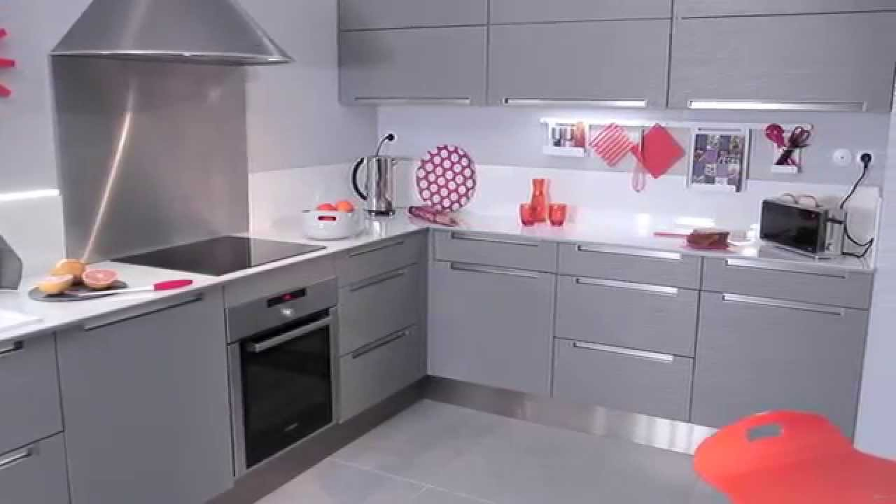 meuble cuisine leroy merlin gris