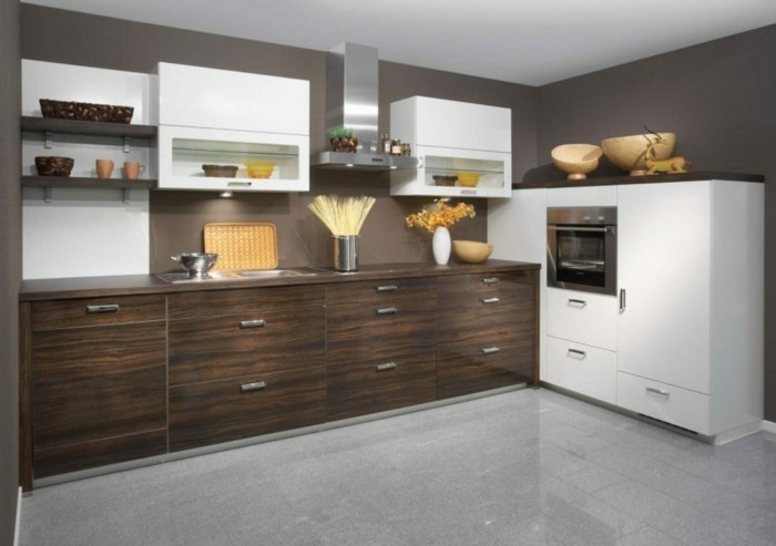 meuble cuisine marron