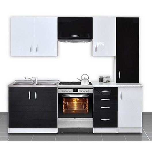 meuble cuisine noir et blanc