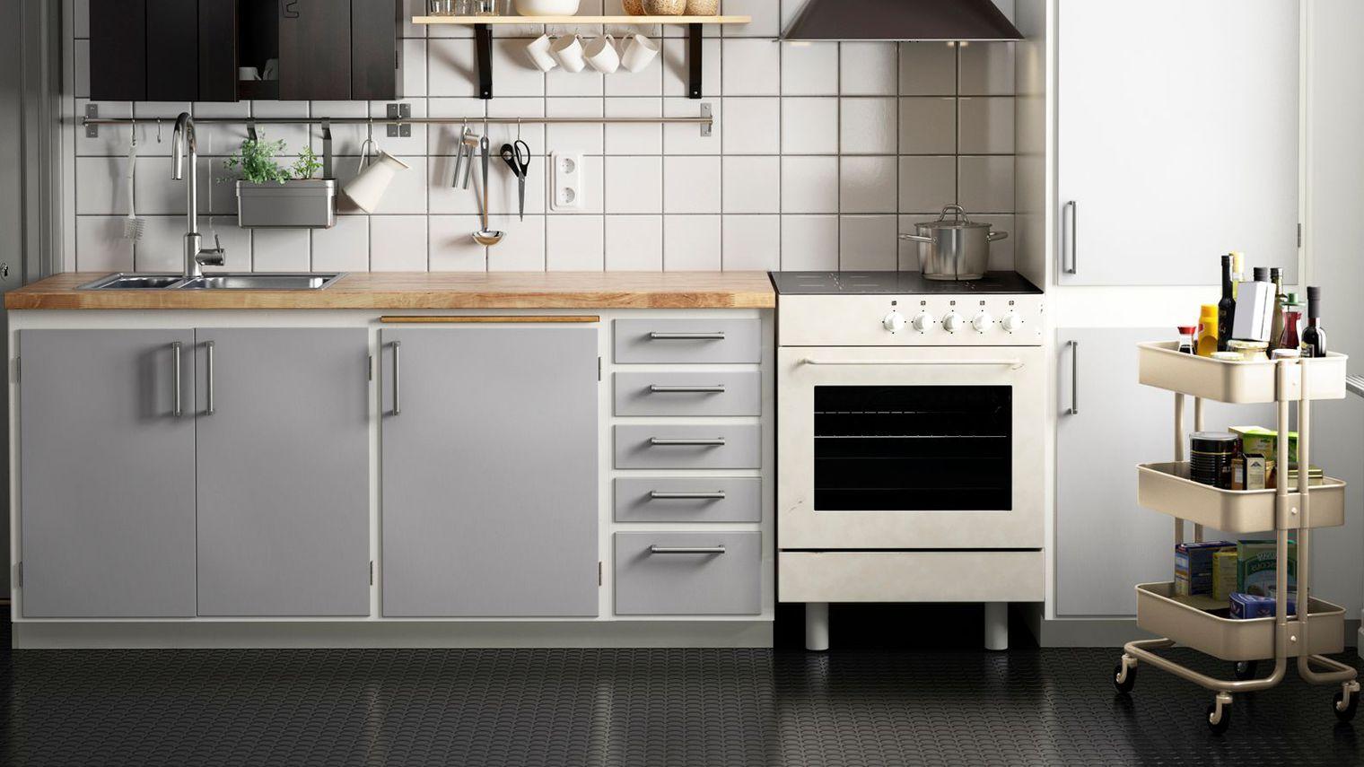 Meuble Bas Cuisine Ikea Gris Idee Cuisine