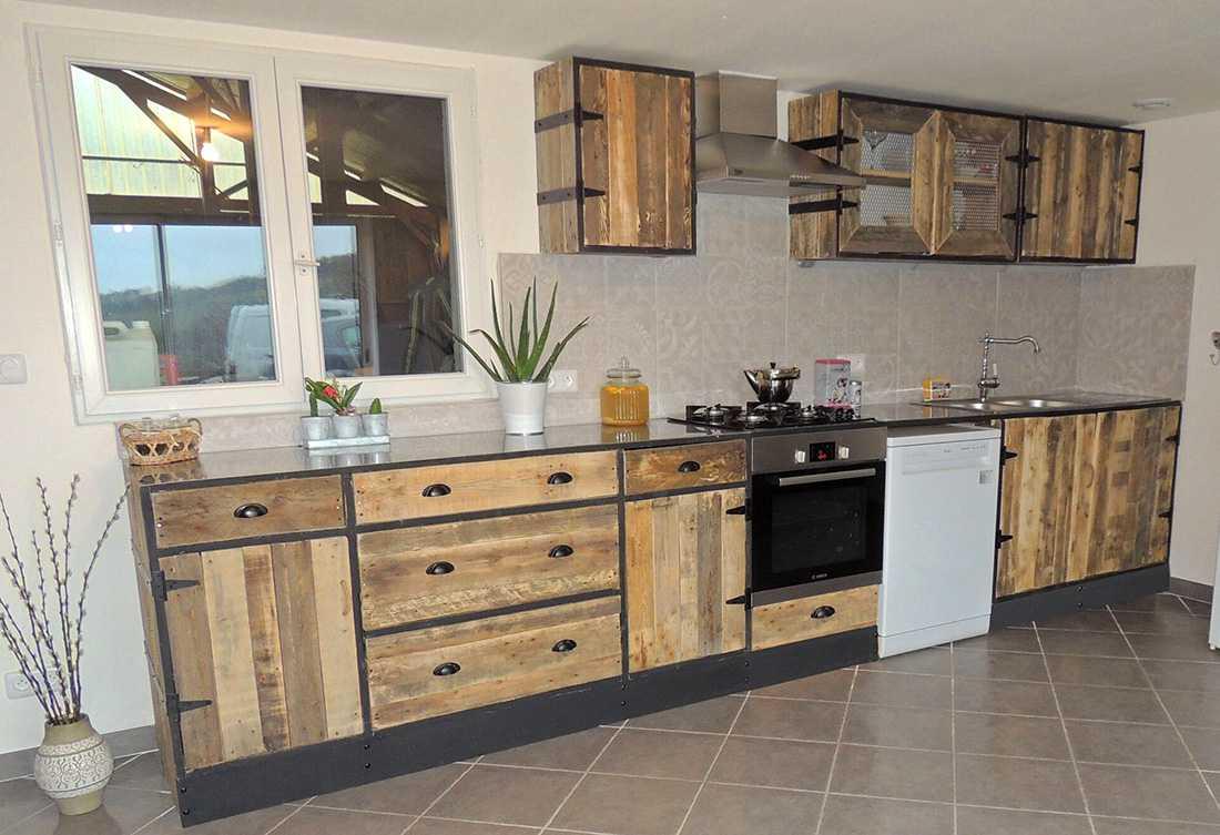 meuble cuisine palette