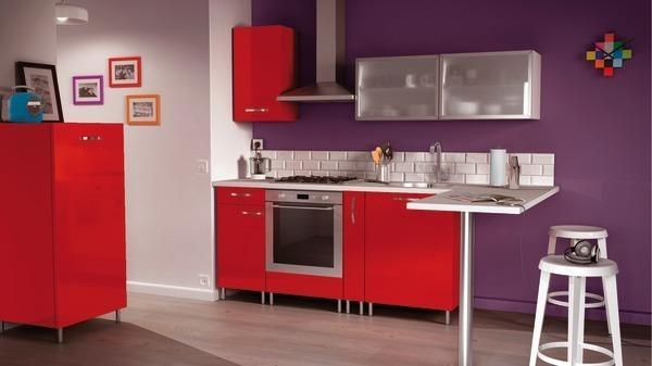 Cuisine Pas Cher Brico Depot | Meuble Cuisine Rouge Brico Depot