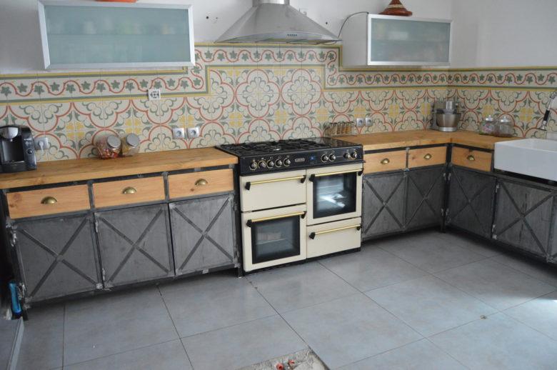 meuble cuisine style industriel
