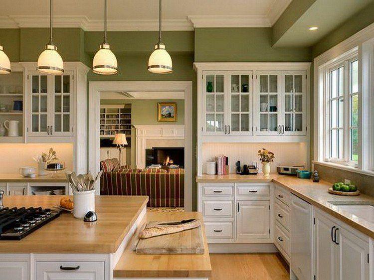 meuble cuisine vert olive