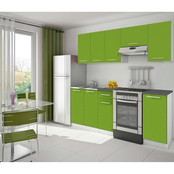 meuble cuisine vert