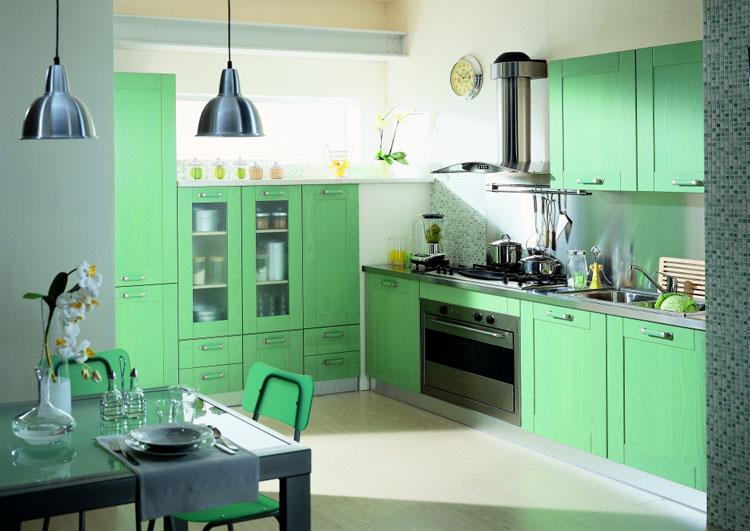 Meuble de cuisine vert - Idée pour cuisine