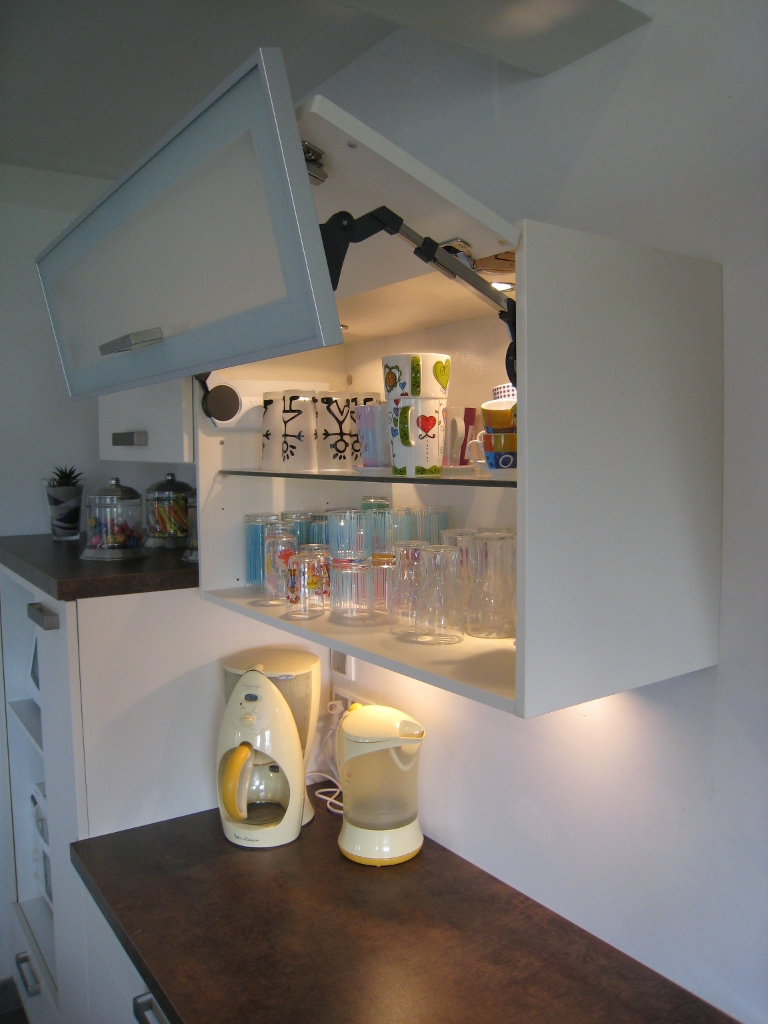 meuble haut cuisine abattant