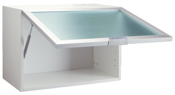 meuble haut cuisine alu+verre