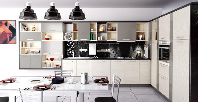 meuble haut cuisine avec niche
