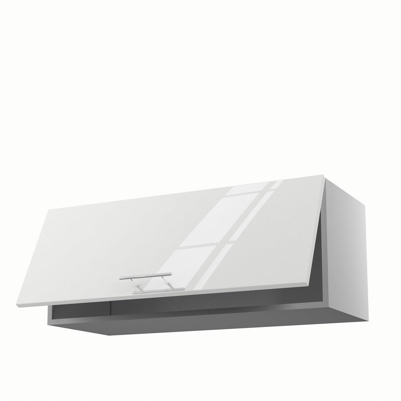 meuble haut cuisine blanc brillant