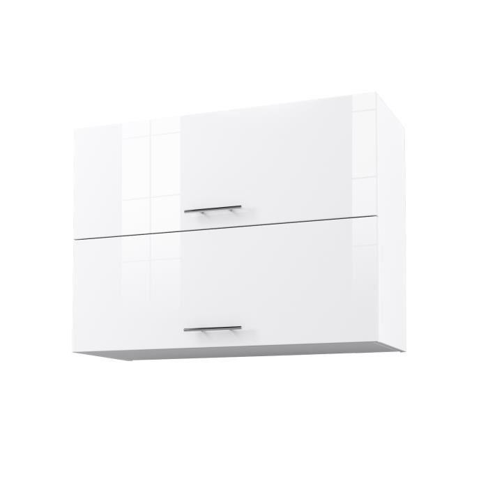 meuble haut cuisine blanc laque