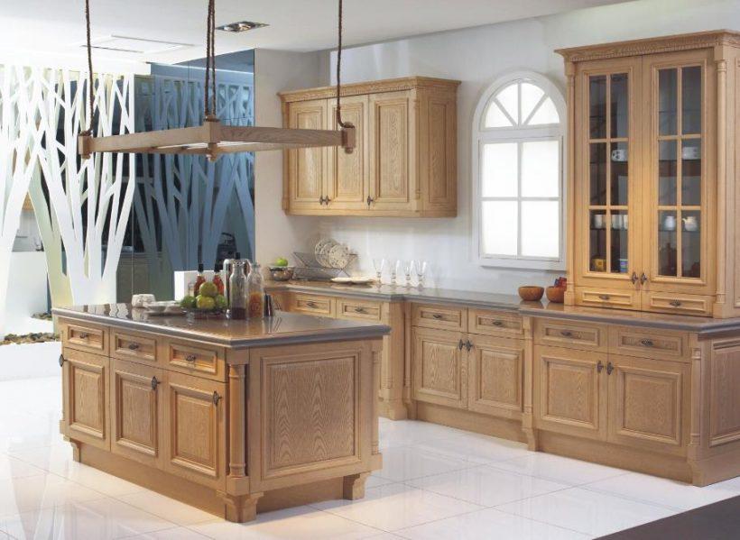 meuble haut cuisine bois naturel