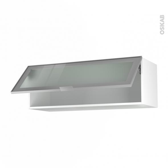 meuble haut cuisine cadre alu