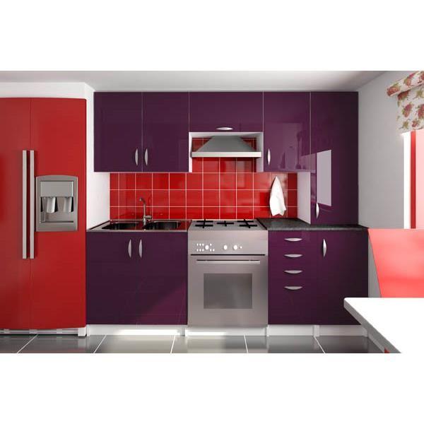 meuble haut cuisine couleur aubergine