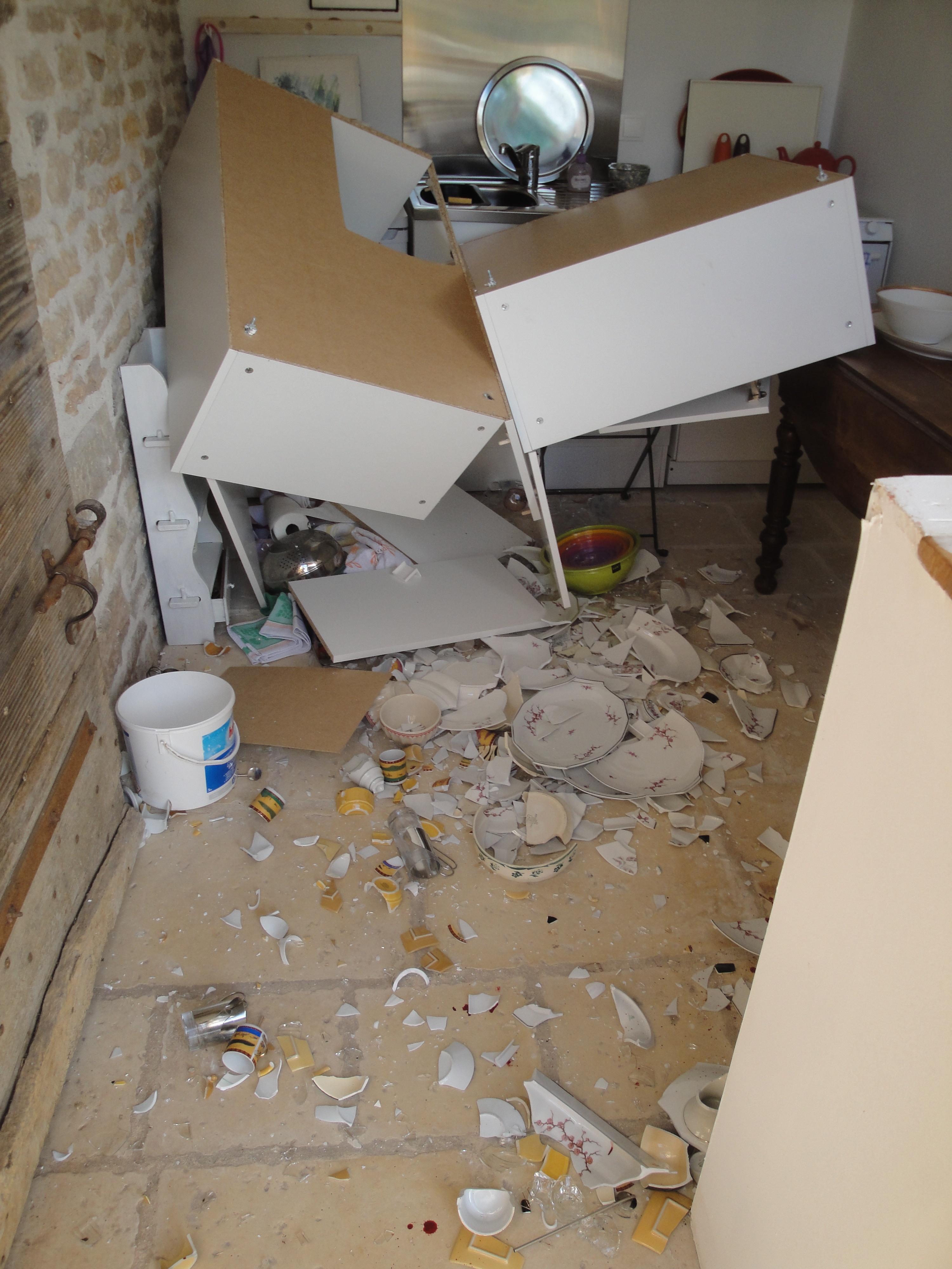 meuble haut cuisine dans placo