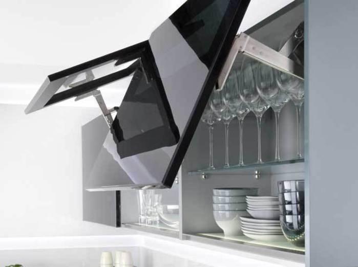 meuble haut cuisine ouverture vers le haut